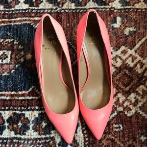 Banana Republic Coral/hot pink leather pumps